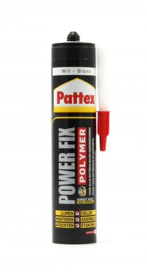 Pattex Power Fix Lijm (kit) voor het monteren van figuren en letters op muren of andere ondergronden.
